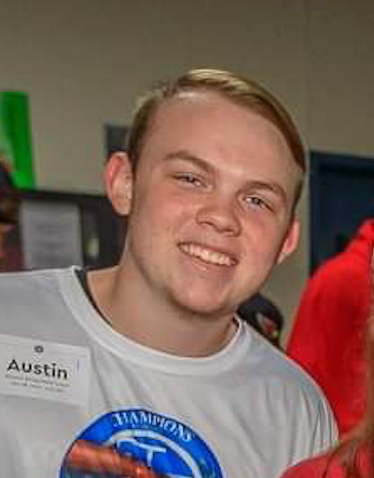 Austin Farr ~ At the age of only 18, Austin lost one of his legs to a rare disease and is on a mission to help the world with a great attitude!
